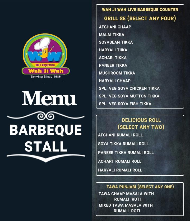 Wah Ji Wah Barbeque menu